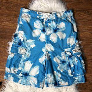 Abercrombie & Fitch Swim Trunks Blue Floral Sz 34